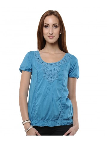 Ms. Doubt fire Blue Casual Top at cilory