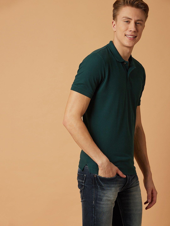 Yellow Peter England Non-Iron Shirt