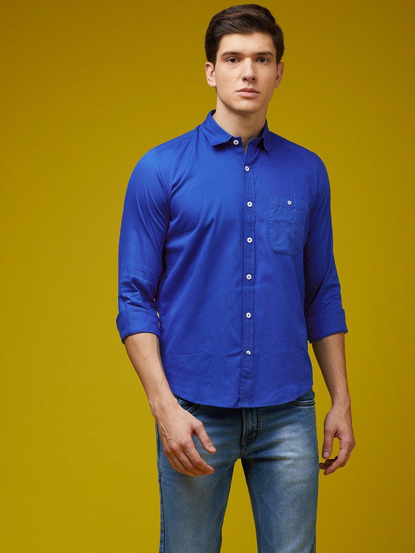 Grunt Pure Cotton Royal Blue Shirt | GRUNT-PGCS-013 | Cilory.com