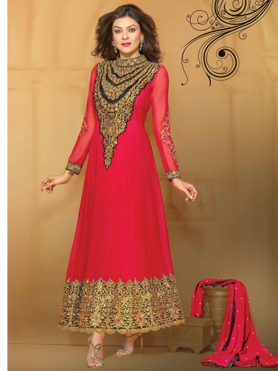 Sushmita Sen Series Designer Anarkali Un-stitched Suit ...