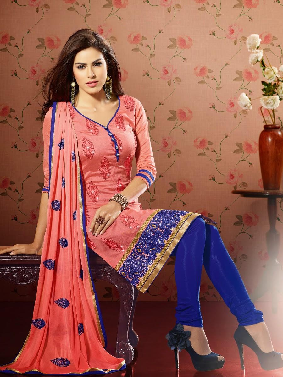 Chanderi Cotton Silk Salwar Suit Dress Material 46011a Cilory Com