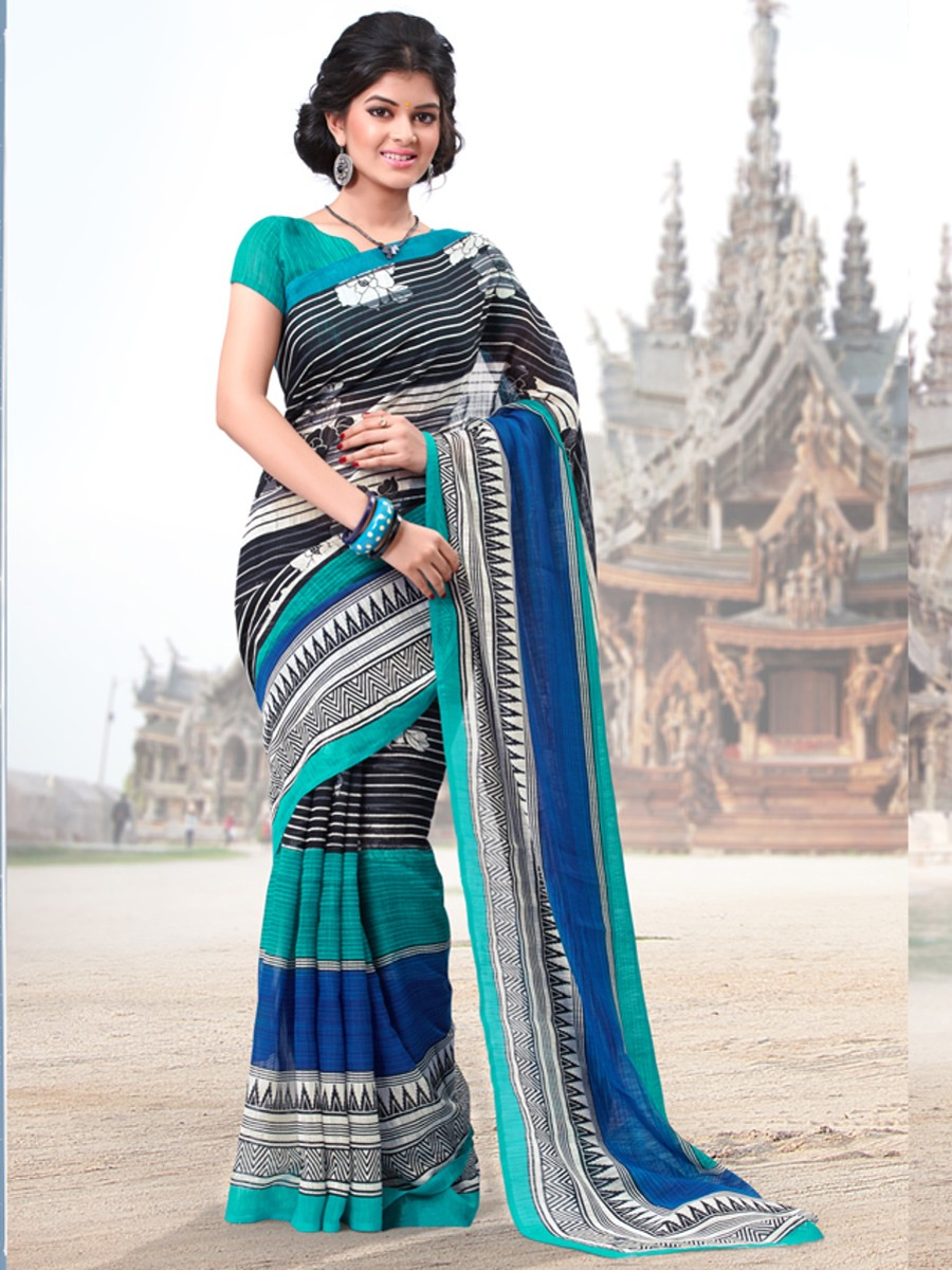 Printed Cotton Silk Wear Saree