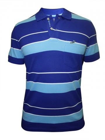 Crocodile Blue Polo Tee at cilory