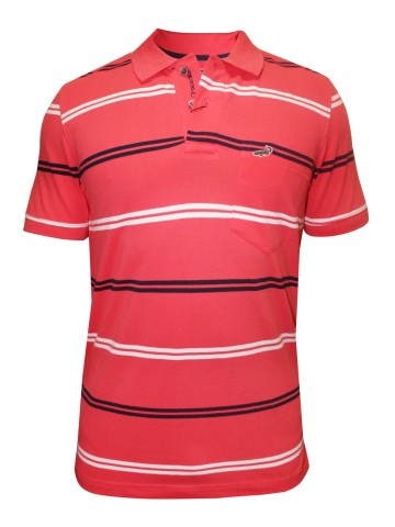 Crocodile Begonia Pink Polo Tee at cilory