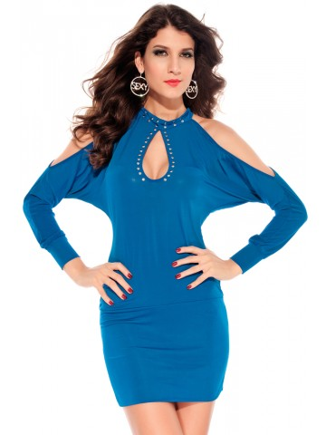 https://static2.cilory.com/92440-thickbox_default/slits-sleeves-hollow-outs-dress-with-studs-blue.jpg